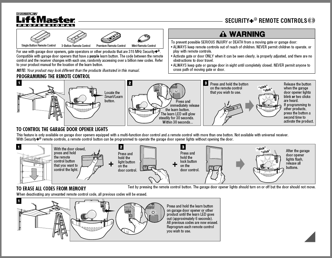 garage doors  u0026 garage door opener manuals